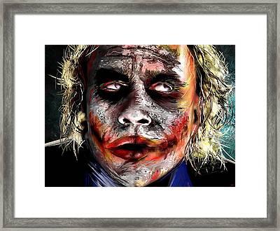 Joker Painting Framed Print by Daniel Janda