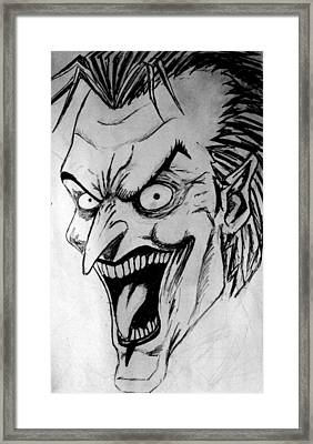 Framed Print featuring the painting Joker by Salman Ravish