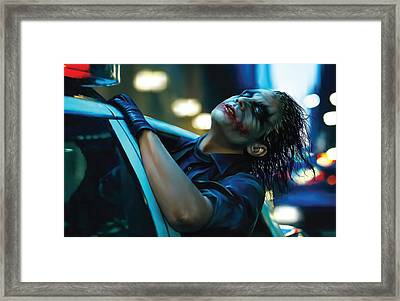 Joker Framed Print by Veronika Limonov