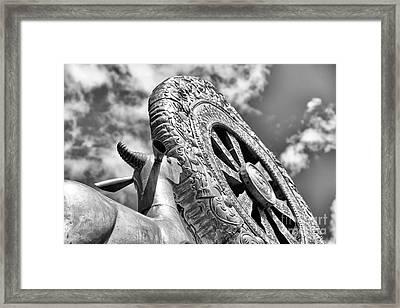Jokhang Temple Dharma Wheel Framed Print