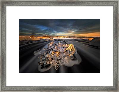 Jokulsarlon Diamond Framed Print
