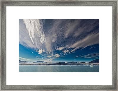 Jokulsarlon Glacial Lagoon Framed Print
