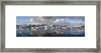 Jokulsarlon Glacier Lagoon Panorama Framed Print