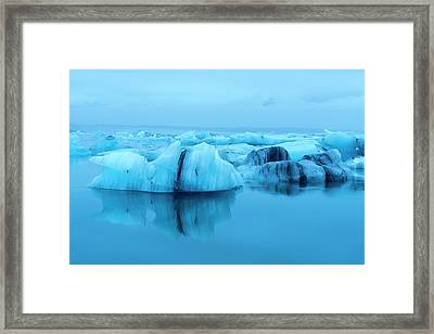 Jokulsarlon Lagoon In Southeast Iceland Framed Print