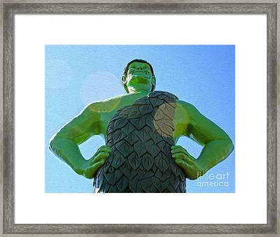 Jolly Green Giant - 02 Framed Print