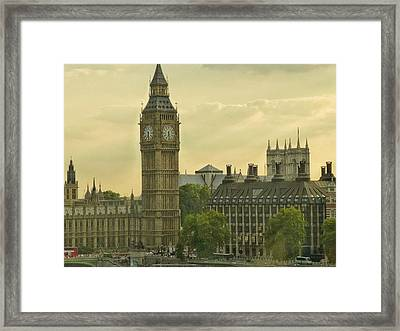 Jolly Olde London Towne Framed Print by Connie Handscomb