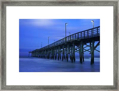 Jolly Roger Pier After Sunset Framed Print by Mike McGlothlen