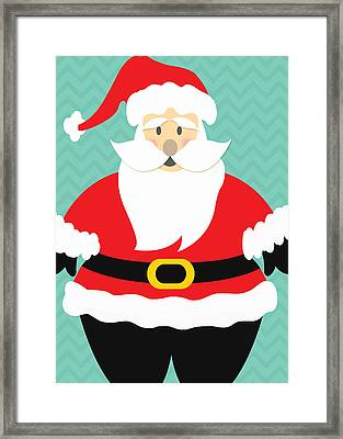 Jolly Santa Claus Framed Print