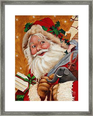Jolly Santa Framed Print