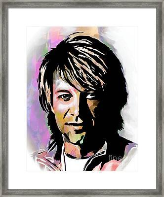 Jon Bon Jovi  Framed Print by Andrzej Szczerski