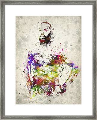 Jon Jones Framed Print by Aged Pixel