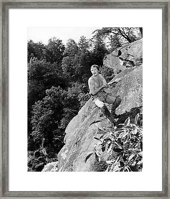 Jon Voight In Deliverance  Framed Print by Silver Screen