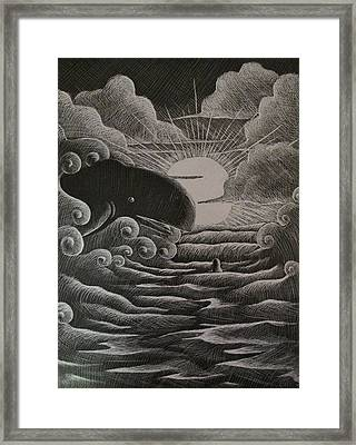Jonah And The Whale Framed Print by Catlin Perry