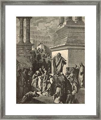 Jonah Calling Nineveh To Repentance Framed Print by Antique Engravings