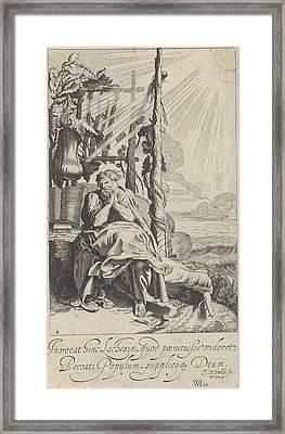 Jonas Under The Miracle Plant, Jan Van De Velde II Framed Print