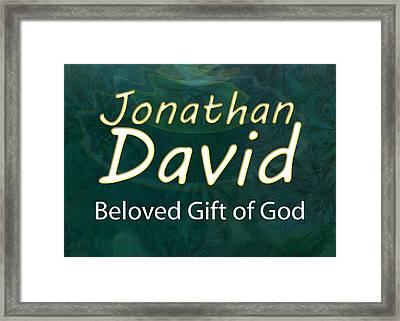 Jonathan David - Beloved Gift Of God Framed Print by Christopher Gaston