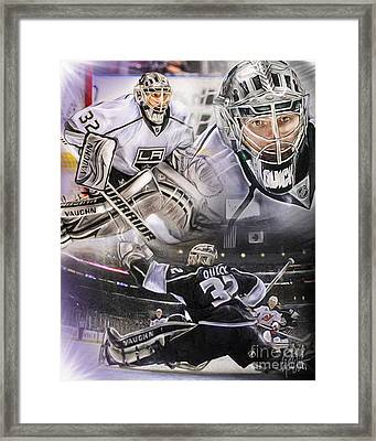 Jonathan Quick Collage Framed Print