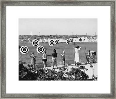 Jones Beach Archery Range Framed Print by Underwood Archives