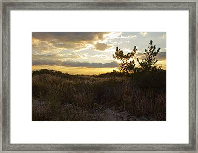 Framed Print featuring the photograph Jones Beach Sunset Four by Jose Oquendo