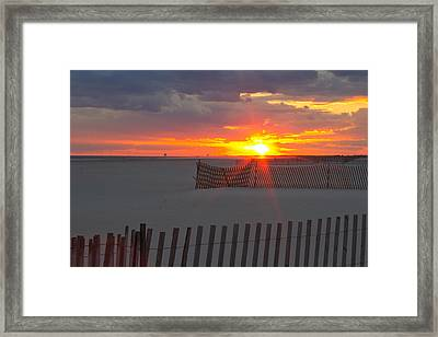 Framed Print featuring the photograph Jones Beach Sunset One by Jose Oquendo
