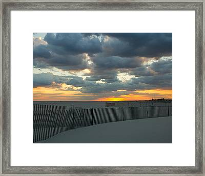 Framed Print featuring the photograph Jones Beach Sunset Three by Jose Oquendo