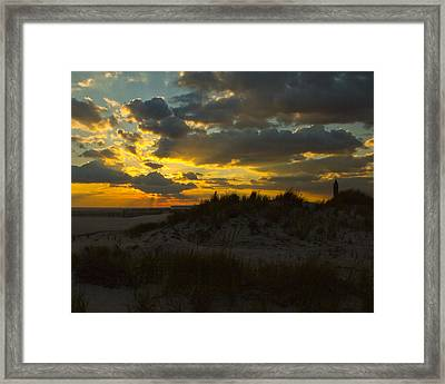 Framed Print featuring the photograph Jones Beach Sunset Two by Jose Oquendo