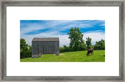 Jones Farm 17811c Framed Print by Guy Whiteley