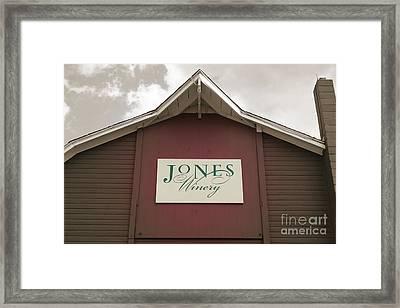 Jones Winery Barn Framed Print
