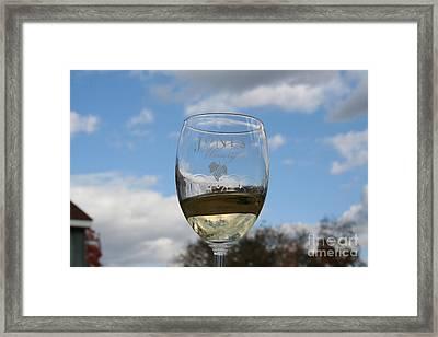 Jones Winery Glass.01 Framed Print