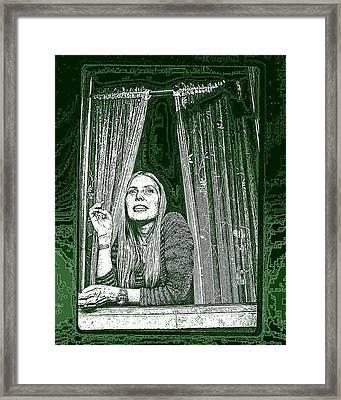 Framed Print featuring the photograph Joni by Allen Beilschmidt