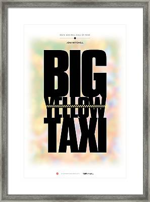 Joni Mitchell - Big Yellow Taxi Framed Print