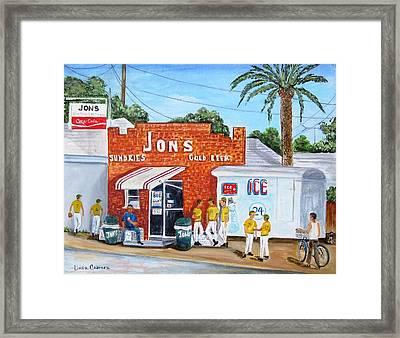 Jon's Ham Framed Print
