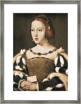 Joos Van Cleve 1485-1541. Eleanor Framed Print by Everett
