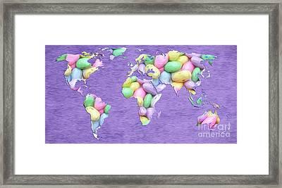 Jordan Almond World Painting Framed Print