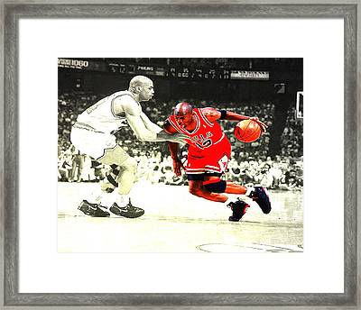 Jordan And Barkley  Framed Print