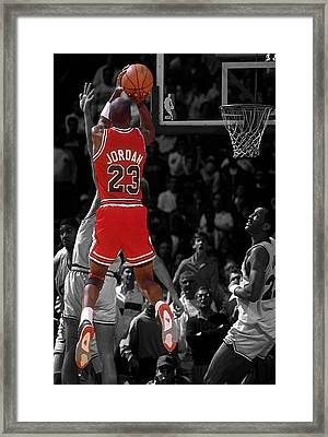 Jordan Buzzer Beater Framed Print by Brian Reaves