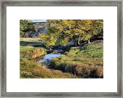 Jordan Creek Autumn Framed Print by Bruce Morrison
