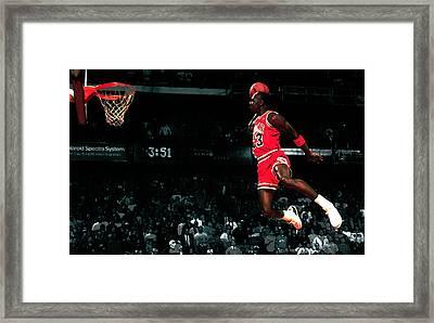 Jordan In Flight Framed Print by Brian Reaves