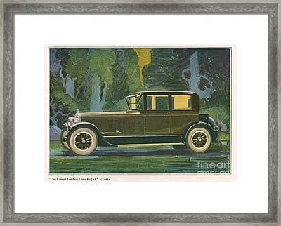 Jordan Line Eight Victoria Car 1925 Framed Print by The Advertising Archives