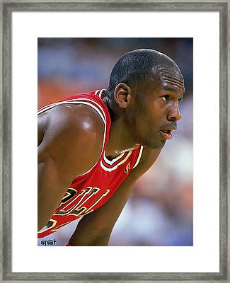 Jordan Framed Print by Paint Splat