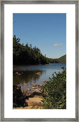 Framed Print featuring the photograph Jordan Pond Bar Harbor Maine by Jennifer Wheatley Wolf