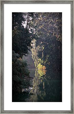 Jordan River At Yardinet Framed Print