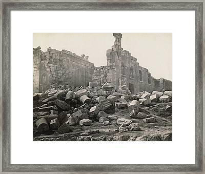 Jordan Roman Ruins Framed Print