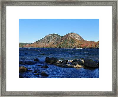 Framed Print featuring the photograph Jordon Pond 1 by Gene Cyr