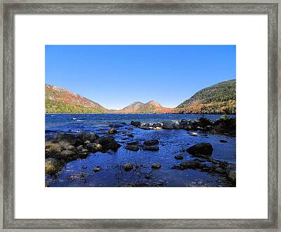 Framed Print featuring the photograph Jordon Pond 2 by Gene Cyr