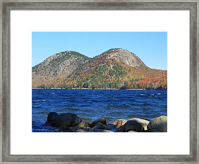 Framed Print featuring the photograph Jordon Pond 3 by Gene Cyr
