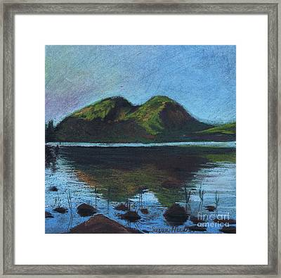 Jordon Pond And The Bubbles Framed Print by Susan Herbst