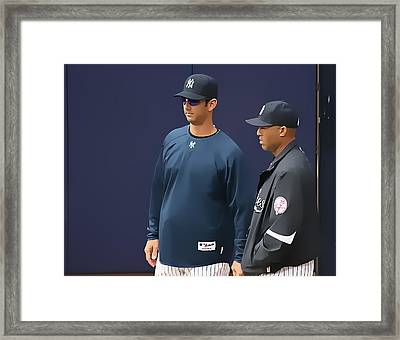 Jorge And Mo Framed Print by John Delong