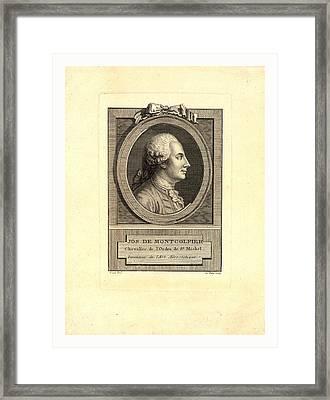 Jos. De Montgolfier Framed Print by English School