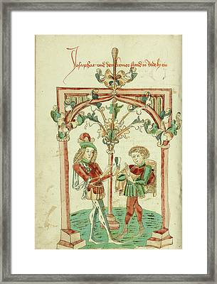 Josaphat Speaking To The Merchant Barlaam Framed Print by Litz Collection